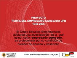 PROYECTO PERFIL DE LOS EGRESADOS UPB