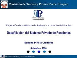 Exposicion del 07/11/05 - Ministerio del Trabajo y