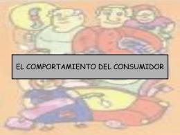 TEMA 8: EL COMPORTAMIENTO DEL CONSUMIDOR