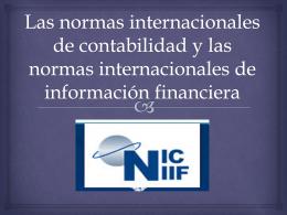Las normas internacionales de contabilidad y las normas