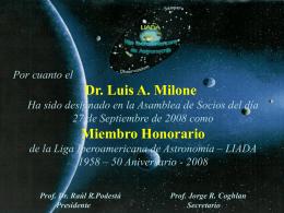 Menciones de la LIADA a sus Miembros Honorarios