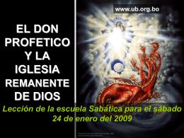 EL DON PROFETICO Y LA IGLESAI REMANENTE