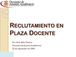 Reclutamiento en Plaza Docente y Periodo Probatorio