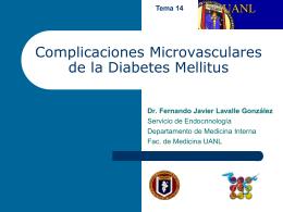 Complicaciones Microvasculares de la Diabetes Mellitus