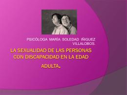 SEXUALIDAD DE LAS PERSONAS CON DISCAPACIDAD EN …
