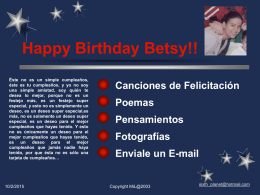 Happy Birthday Betsy!!