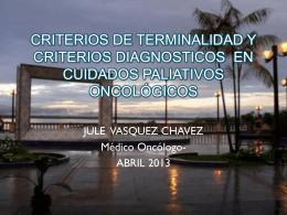 CRITERIOS DE TERMINALIDAD - Instituto Nacional de