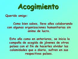 AG2- Acogimiento