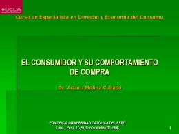 El Consumidor y su Comportamiento de Compra