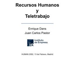 HUMAN2002 - Recursos Humanos y Teletrabajo