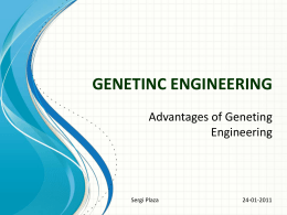 GENETINC ENGINEERING
