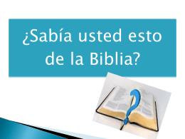 DATOS CURIOSOS HACERCA DE LA BIBLIA