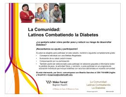 La Comunidad: Latinos Combatiendo Diabetes