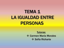 Tema 1: La igualdad entre personas