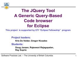 PowerPoint Presentation - JQuery Eclipse BoF presentation