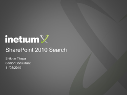 Inetium-Benchmark Learning Sharepoint 2010 Search and …