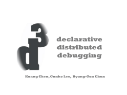 DPL: Distributed Processing of Logs (for Debugging