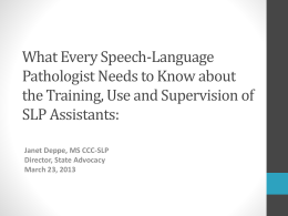 What Every Speech-Language Pathologist Needs to Know …