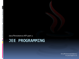 JEE Programming - Universitas Brawijaya
