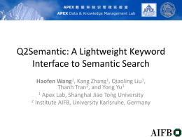 Q2Semantic: A Lightweight Keyword Interface to …