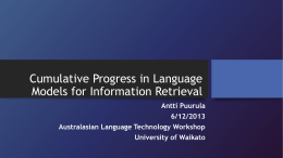 Cumulative Progress in Language Models for Information