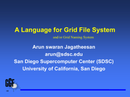 A Language for Grid File System