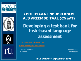 The Certificate Dutch as a Foreign Language