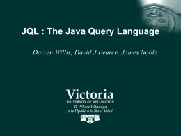 JQL : The Java Query Language