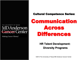 Diversity 101 - MD Anderson Cancer Center