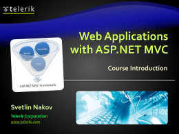 Web Applications Development with .NET Framework and …