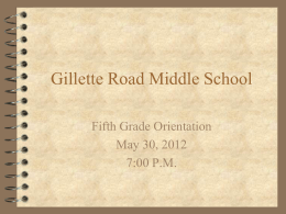Gillette Road Middle School - North Syracuse Central