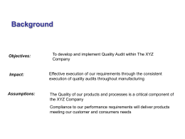 Quality Audits for Manufacturing
