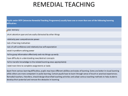REMEDIAL TEACHING - kvszietmysorephysics