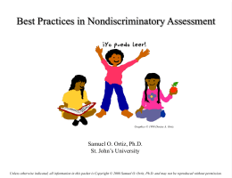 Best Practices in Non-Discriminatory Assessment