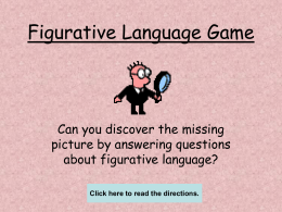 Figurative Language Picture Game