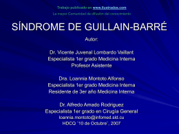 SINDROME DE GUILLAIN-BARRE