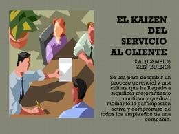 EL KAIZEN DEL SERVICIO AL CLIENTE