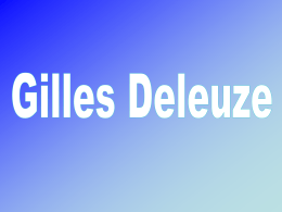 GILLES DELEUZE - cursodefilosofia2012