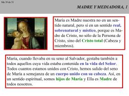 MADRE Y MEDIADORA, 1