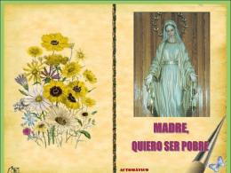 MADRE,QUIERO SER POBRE - Iglesia en Yunquera de …