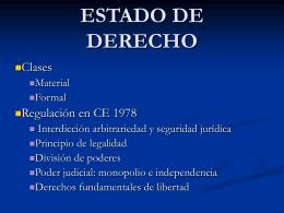ESTADO DE DERECHO - Universidad de Oviedo