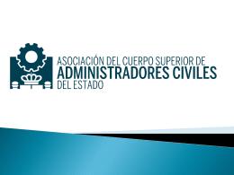 ADMINISTRADORES CIVILES DEL ESTADO (TACS)