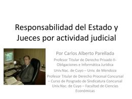 Responsabilidad del Estado y Jueces por actividad judicial