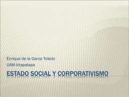 ESTADO SOCIAL Y CORPORATIVISMO