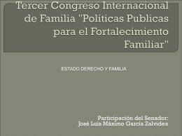 Estado, Derecho y Familia.