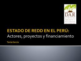 ESTADO DE REDD EN EL PER&#218