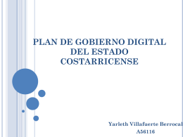 PLAN DE GOBIERNO DIGITAL DEL ESTADO COSTARRICENSE
