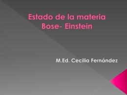 Estado de la materia Bose