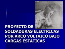 SOLDADURA: HIPOTESIS DE ESTADO TENSIONAL