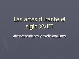 Las artes durante el siglo XVIII